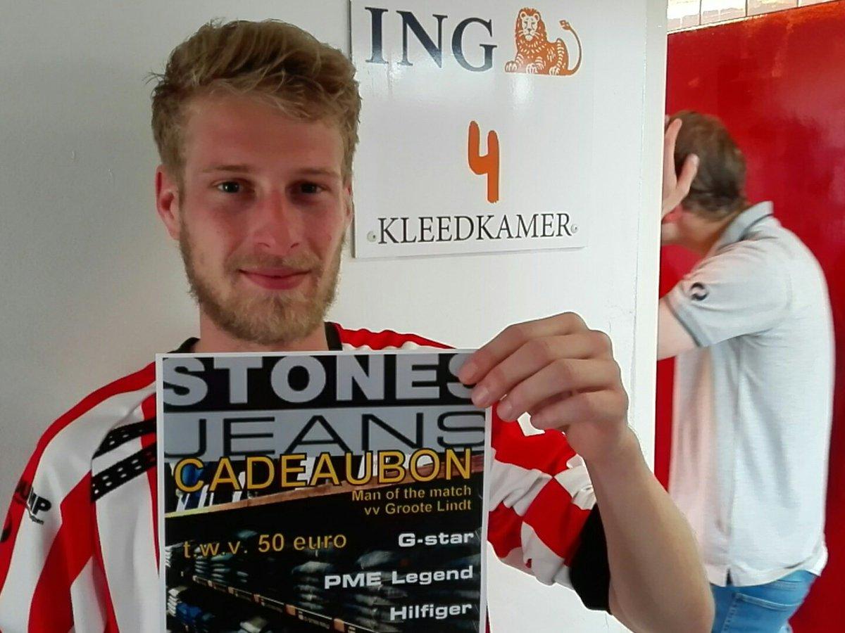 STONES JEANS Man of the Match zaterdag 6 mei: Björn van Ingen