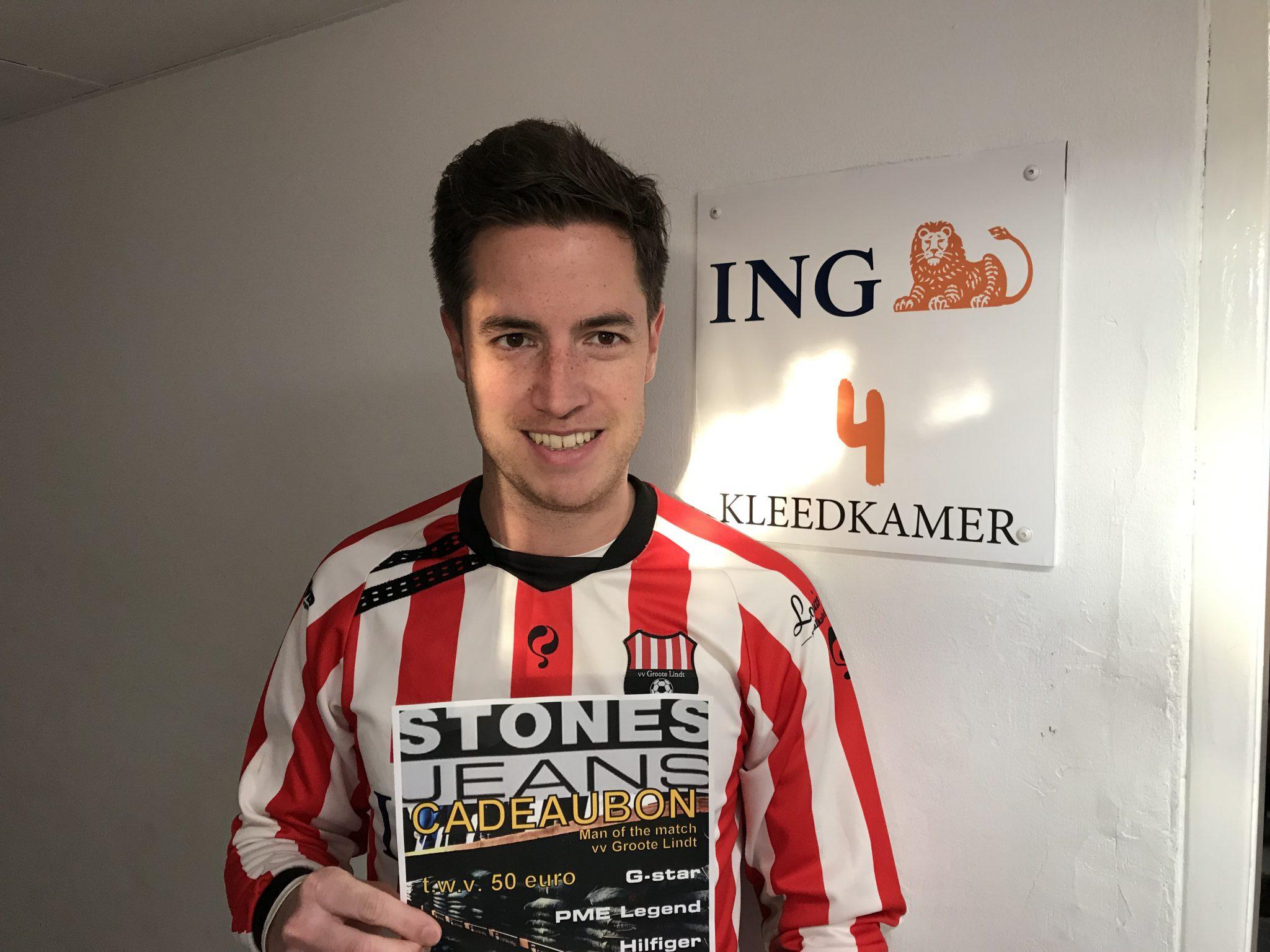 STONES JEANS Man of the Match zaterdag 16 februari: Sonny Schouten