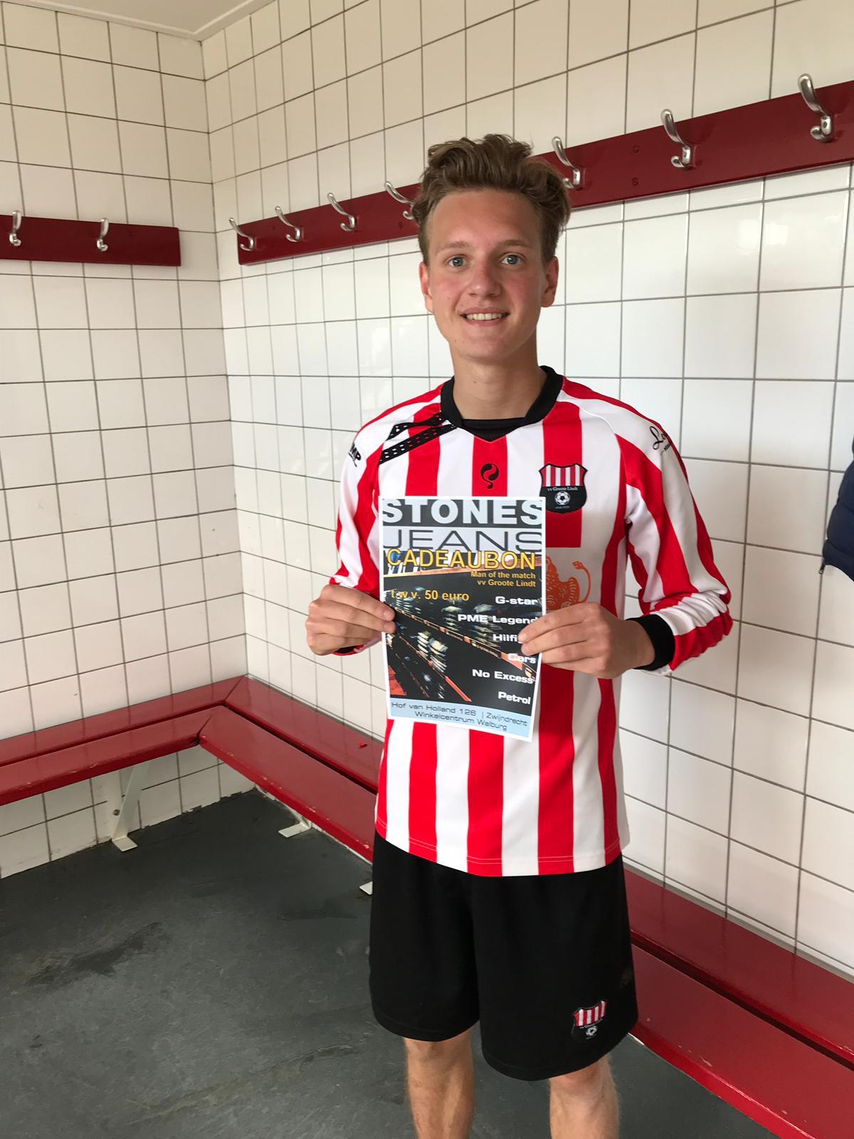 STONES JEANS Man of the Match zaterdag 11 mei: Mathijs Fawzi