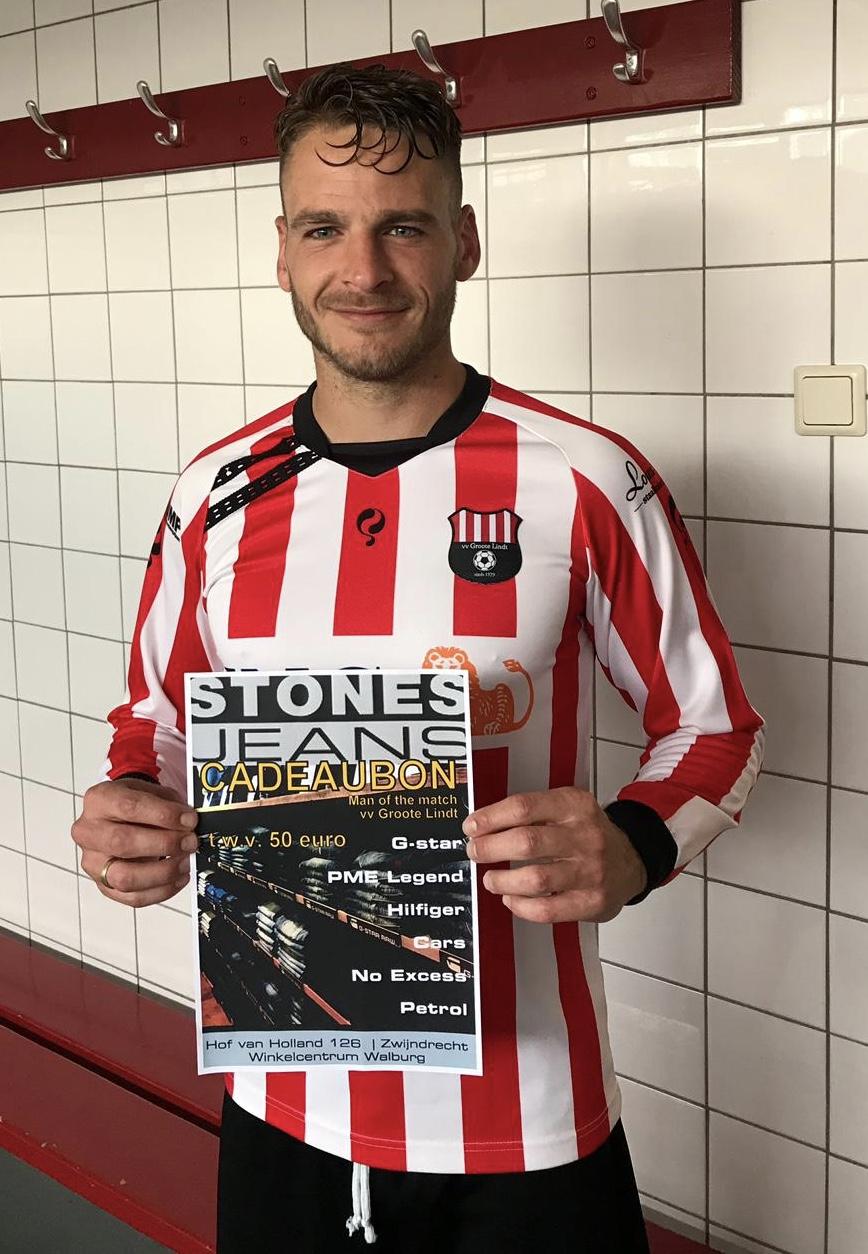 STONES JEANS Man of the Match zaterdag 25 mei: Kevin van Pelt